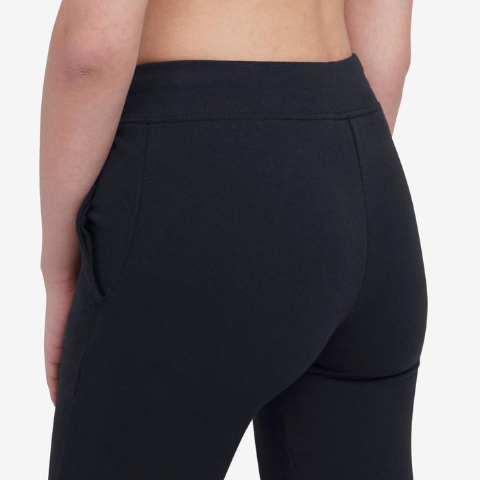 Trainingsbroek dames 500 Slim zwart