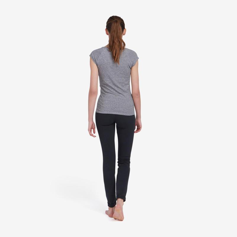 Pantalon jogging femme 500 slim noir