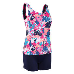 Women's Swimming One-Piece Tankini Swimsuit Heva - All Mask Pink