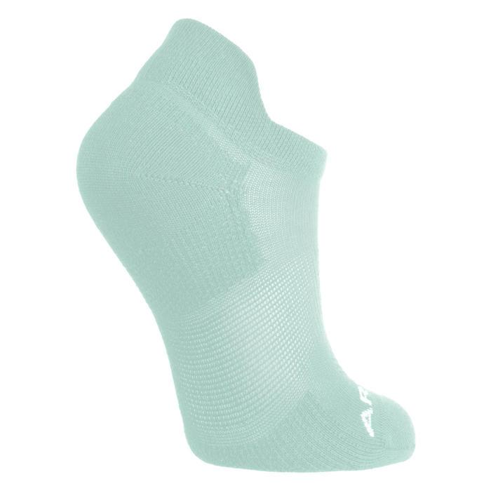 Kids' Low Tennis Socks RS 160 Tri-Pack - Pink/White/Green