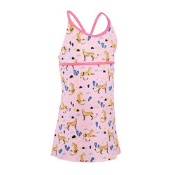 Girls' one-piece dress swimsuit Riana pink