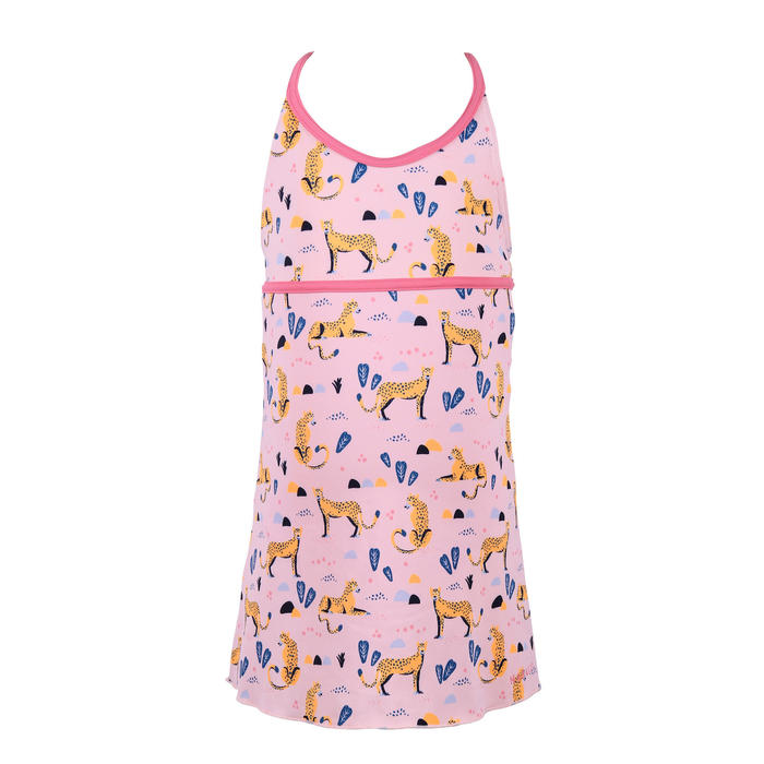 Girls' one-piece dress swimsuit Riana pink