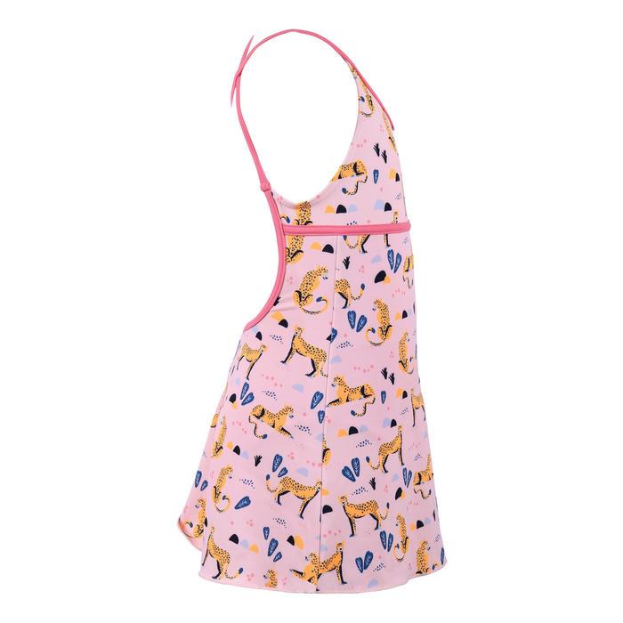 女童款連身裙泳裝Riana-粉紅色
