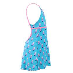 女童款連身裙泳裝Riana-藍色
