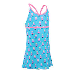 Girls' one-piece dress swimsuit Riana - all casi blue