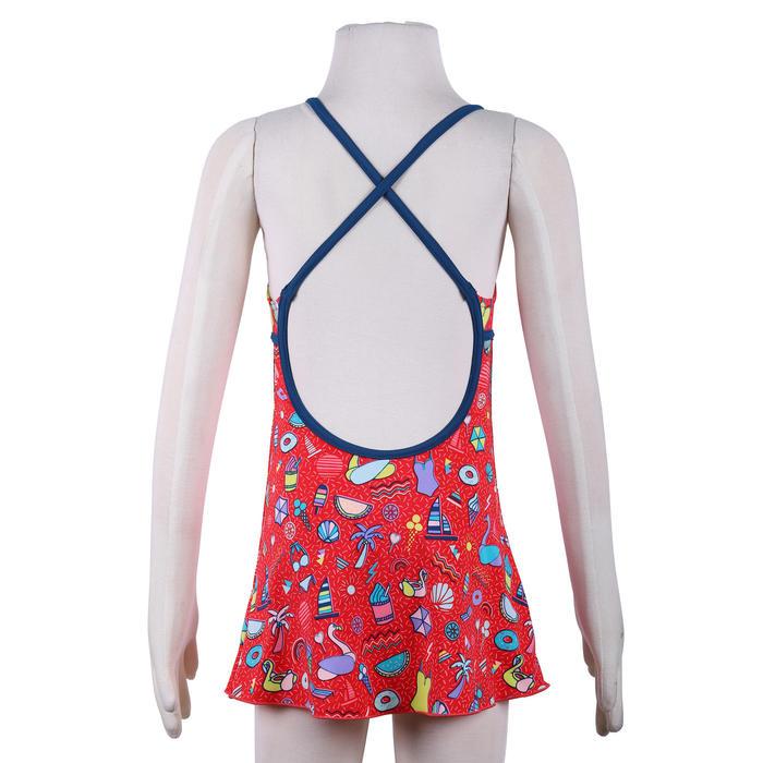 女童款連身裙泳裝Riana-紅色
