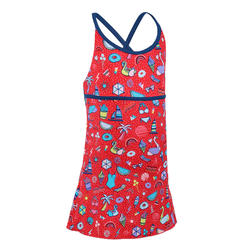 Girls' one-piece dress swimsuit Riana - all playa red