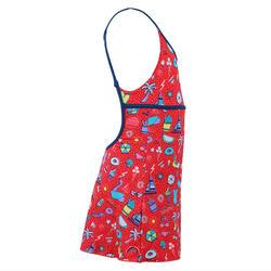 Girls' one-piece dress swimsuit Riana - all playa red