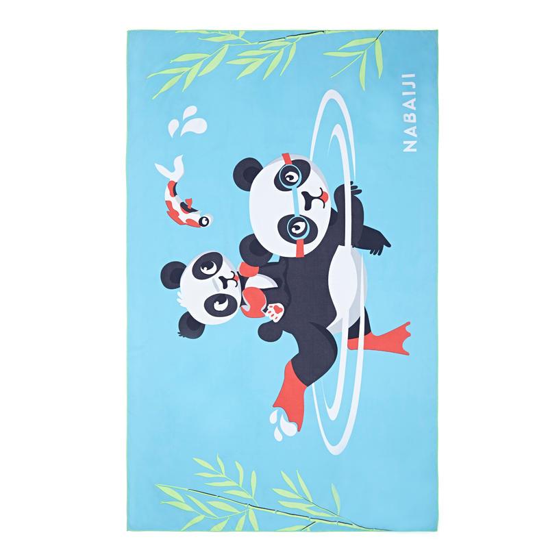 Handuk Mikro Fiber Ukuran L 80 x 130 cm - Motif Panda