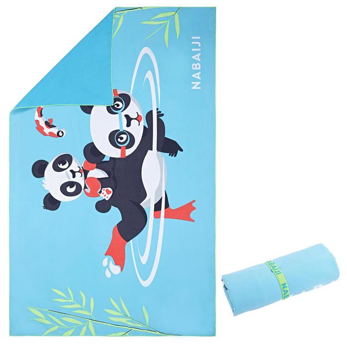 Microvezelhanddoek compact met pandaprint maat L 80 x 130 cm