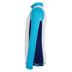 兒童款抗UV上衣500L-白色