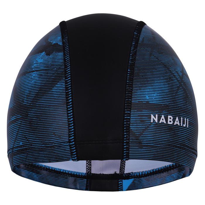 矽膠網眼泳帽L號-TEXXO印花黑色