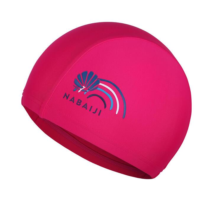 網眼泳帽L號-粉紅色印花