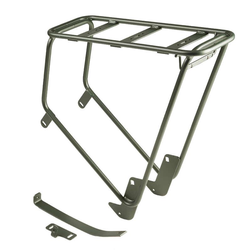Kiegészítő alkatrészek Kerékpározás - Csomagtartó Elops 520, khaki WORKSHOP - Sportok