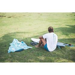 男款抗UV短袖防曬T恤-白色