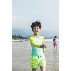 兒童款衝浪褲100-黃色