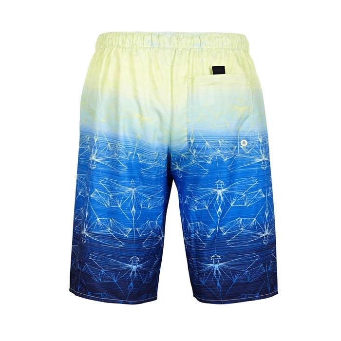標準衝浪褲100-蜻蜓款萊姆綠
