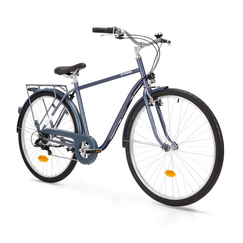 PRODUCTO OCASIÓN: Bicicleta Clásica Holandes Elops 120 Cuadro Alto Azul