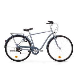 Bici città ELOPS 120 telaio alto azzurra