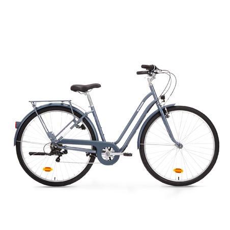 Elops 120 Low Frame City Bike Blue Decathlon