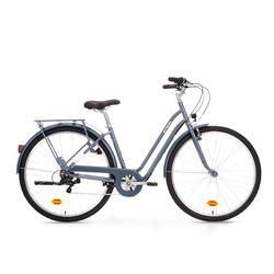 Bici città ELOPS 120 telaio basso azzurra