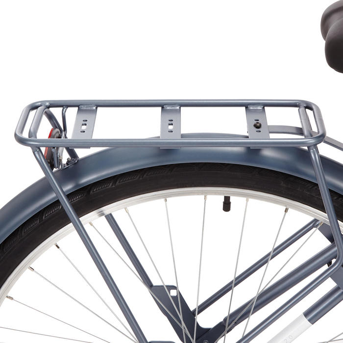 Stadsfiets Elops 120 laag frame blauw
