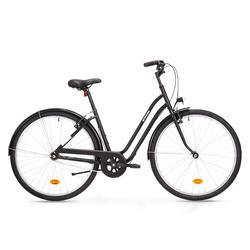 Bici città ELOPS 100 telaio basso nera