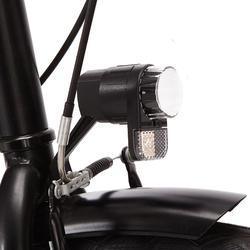 Stadsfiets Elops 100 laag frame zwart