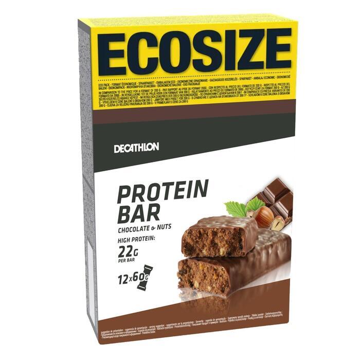 Eiwitreep chocolade hazelnoot ecosize X12