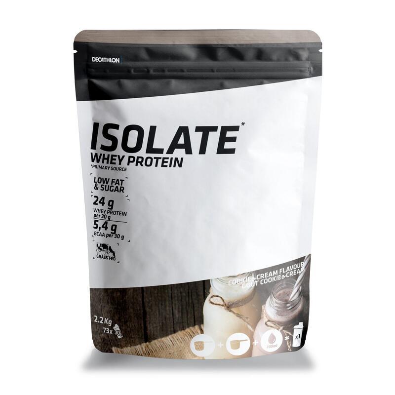 PROTEINA WHEY ISOLATE 24g proteina suero lacteo sabor COOKIES & CREMA 2,2 KG