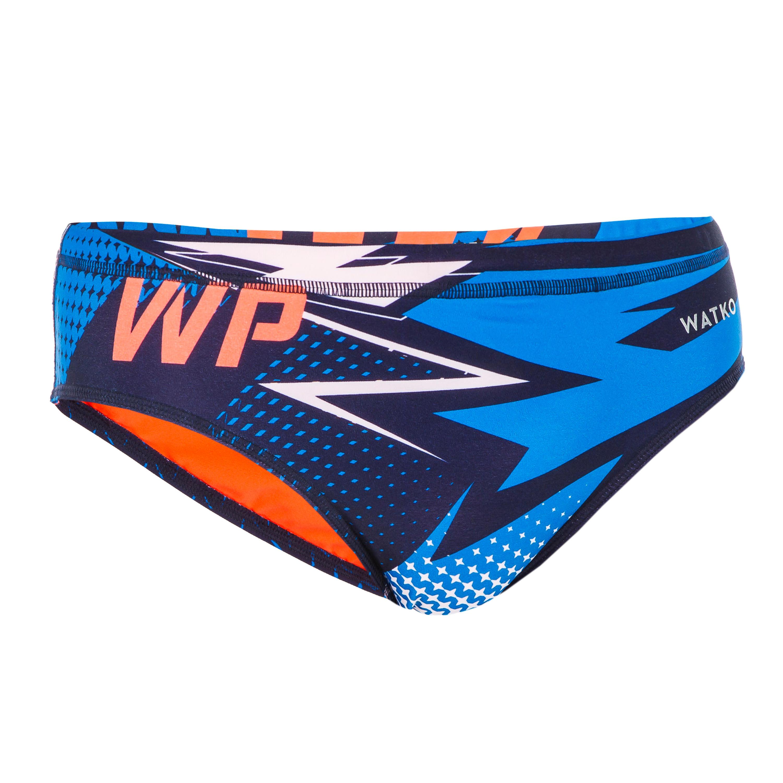 Bbosi Herren-Badehose in Slipform Wasserball-Kappe SuperhelThor Wasserball Schwimmen Triathlon