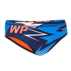 Zwemslip voor waterpolo voor heren 500 MCross blauw
