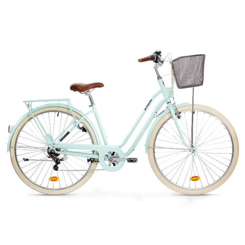 URBAN TRADITIONAL BIKES Cycling - Elops 520 Step Over Classic Bike - Mint B'TWIN - Bikes