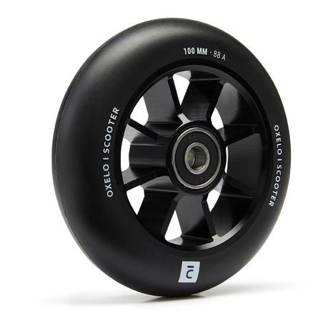 100 mm Aluminium PU85A Wheel - Black Frame and Rubber