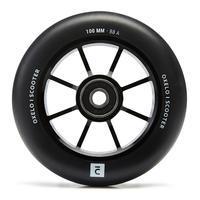 Roue 100mm avec corps noir en aluminium et gomme noir PU85A