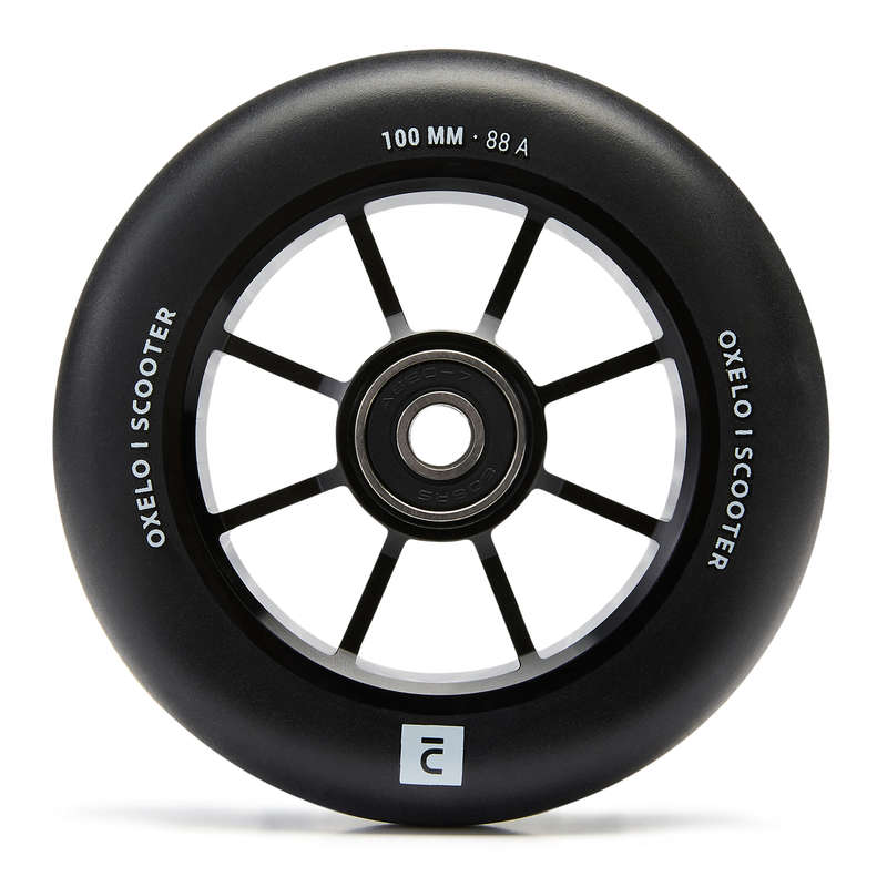 FREESTYLE SCOOTERS SPARE PARTS Scootering - 100 mm Alu PU Wheel - Black OXELO - Scootering