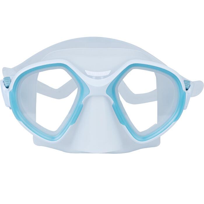 Masque d'apnée FRD 500 bi hublot gris brume, volume réduit