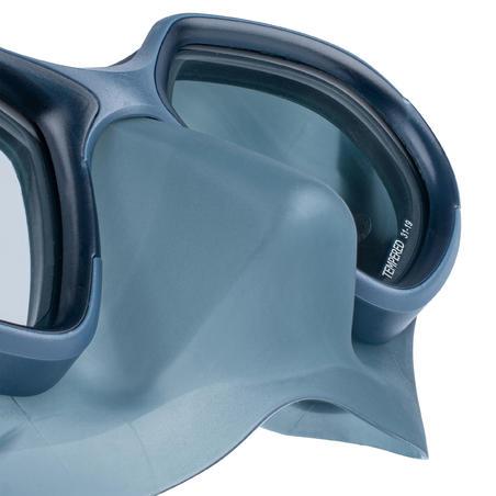 Máscara Apnea FRD 500 Adulto Gris Tormenta Doble Cristal Compacta