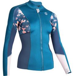 女款氯丁橡膠(neoprene)保暖長袖上衣900-藍色