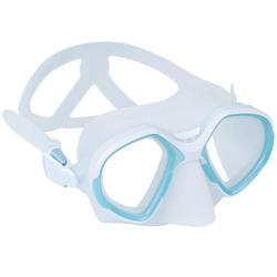 Duikbril voor vrijduiken FRD 500 twee glazen mistgrijs beperkt volume