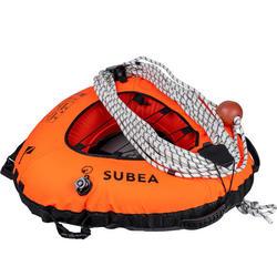 Boei voor freediving FRD 500 Deep 20 voor duiken tot 20 m (inclusief lijn).
