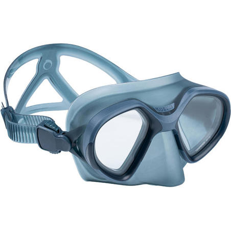 Freediving double-lens mask FRD 500 - storm grey, reduced volume