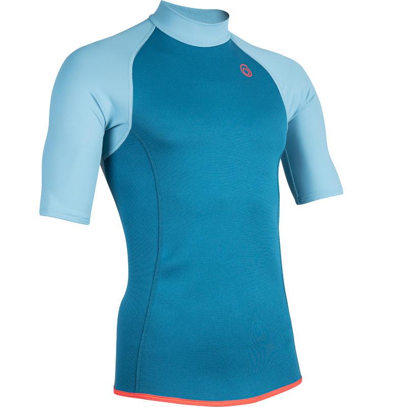 เสื้อนีโอพรีนป้องกันอุณหภูมิแขนสั้นสำหรับผู้ชายรุ่น 100 (สีฟ้า Turquoise)