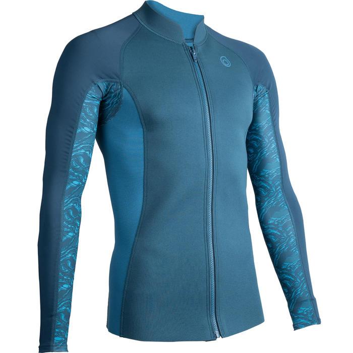 男款氯丁橡膠(neoprene)保暖長袖上衣500-軍藍色