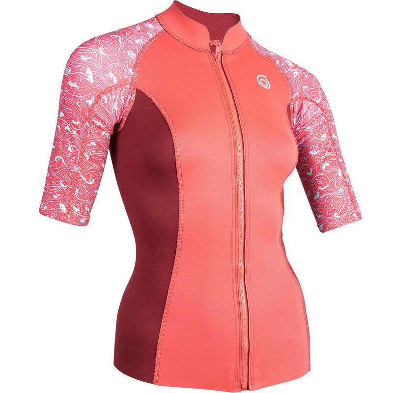 Women's short-sleeve neoprene top 500 - pink