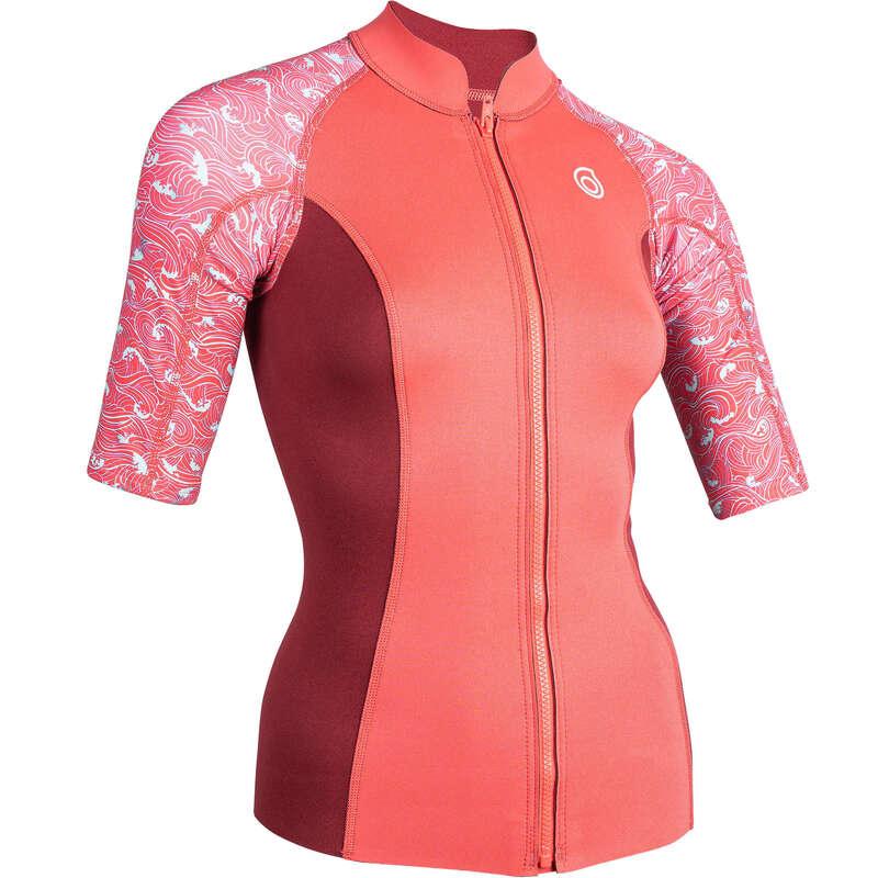Schnorcheln Neoprenbekeidung Schnorcheln - Neopren-Top 500 Damen rosa SUBEA - Schnorchelbekleidung