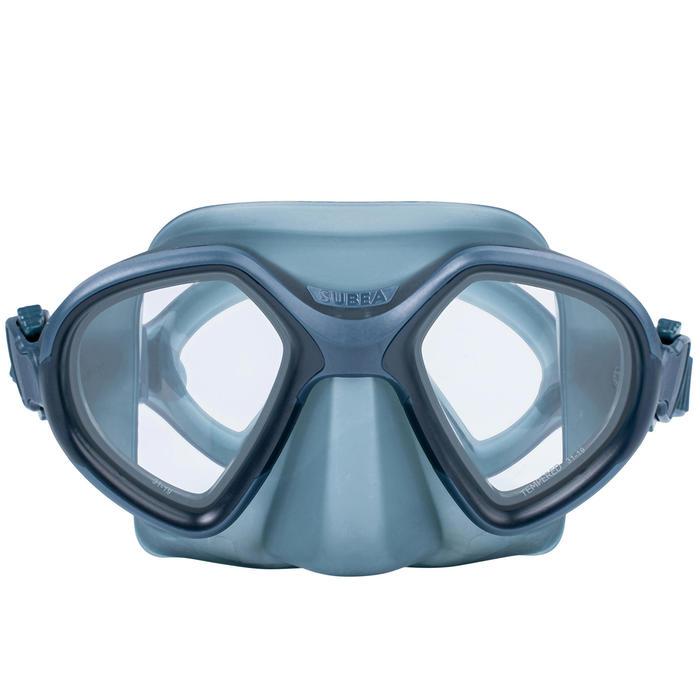 Masque d'apnée FRD 500 bi hublot gris tempête, volume réduit