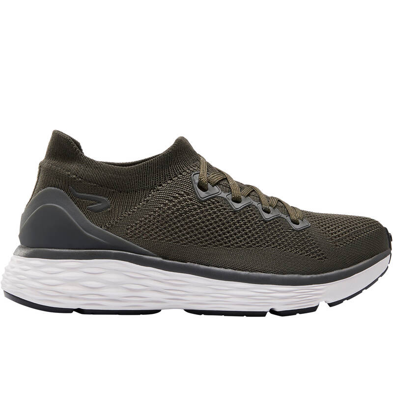 DÁMSKÉ BOTY NA JOGGING, PRAVIDELNÉ POUŽITÍ Běh - BĚŽECKÉ BOTY CONFORT KHAKI  KALENJI - Běžecká obuv