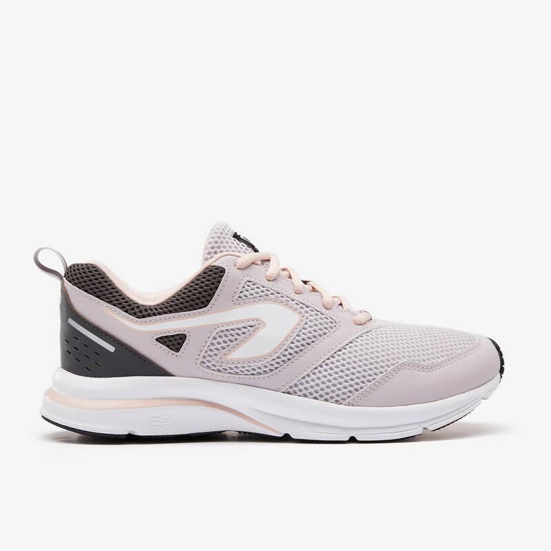 DÁMSKÉ BOTY NA JOGGING / PŘÍLEŽITOSTNÉ POUŽITÍ Běh - BOTY RUN ACTIVE ŠEDÉ  KALENJI - Běžecká obuv