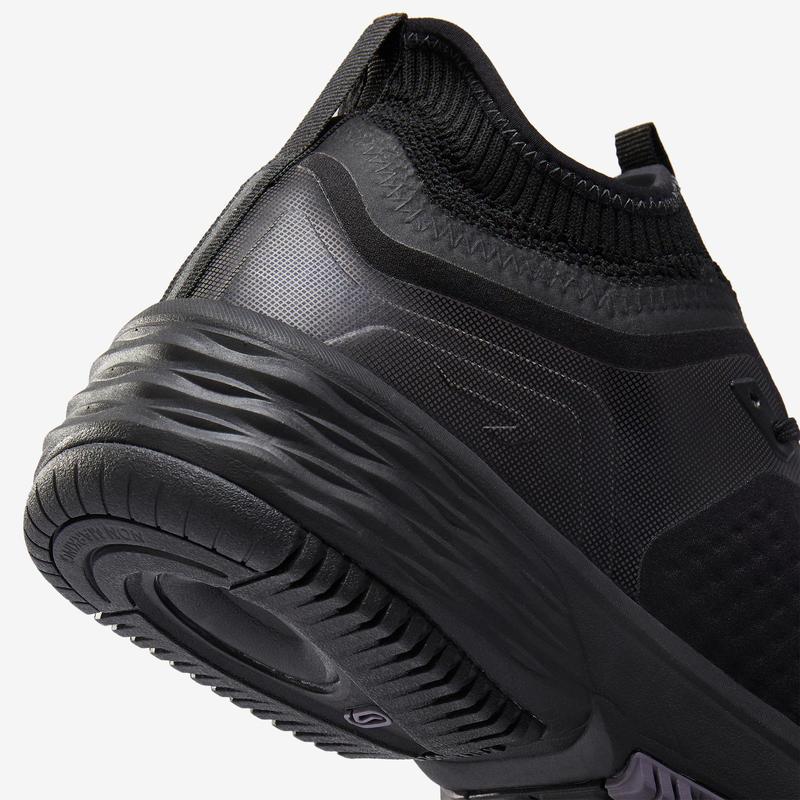 รองเท้าผู้ชายสำหรับใส่วิ่งรุ่น SUPPORT WR NYTE สีดำ